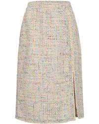 Giambattista Valli Jupe crayon en tweed de coton mélangé - Multicolore