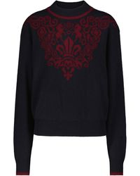 See By Chloé Pullover Intarsia aus Wolle - Rot