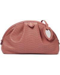 Alaïa Samia 26 Laser-cut Leather Clutch - Pink