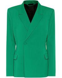 Balenciaga Stretch-wool Blazer - Green