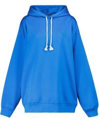 Acne Studios Cotton-blend Jersey Hoodie - Blue