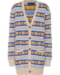 Polo Ralph Lauren Cotton, Silk And Wool Cardigan - Multicolour