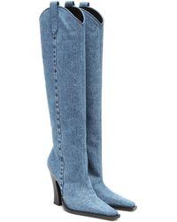 Tom Ford Stiefel aus Denim - Blau