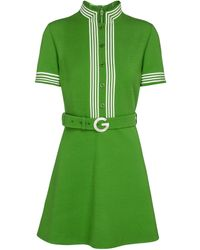 Gucci Wool Crêpe Minidress - Green