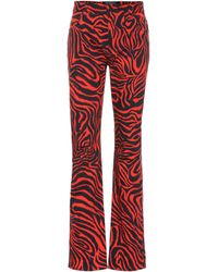 CALVIN KLEIN 205W39NYC Tiger High-rise Straight Jeans - Red