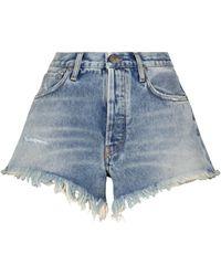Alanui Short Laguna Verde en jean à taille haute - Bleu