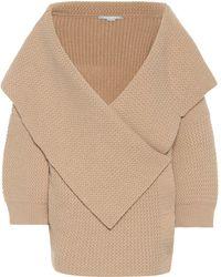 Stella McCartney Virgin Wool Cardigan - Natural