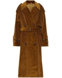 Acne Studios Belted Corduroy Coat - Brown