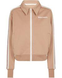 Palm Angels Trainingsjacke aus Jersey - Braun
