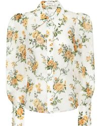 Zimmermann - Blusa de lino y seda - Lyst