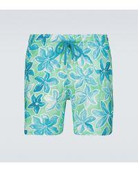 Vilebrequin Mahina Printed Swim Shorts - Blue