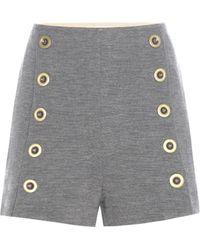 Chloé - Embellished Wool Shorts - Lyst