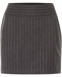 Alexandre Vauthier Minifalda en mezcla de lana - Gris