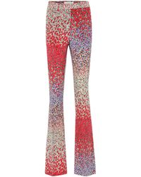 Etro Printed High-rise Flared Silk Trousers