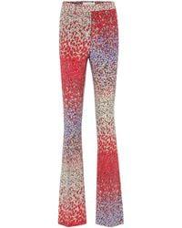 Etro High-Rise Hose aus Seide - Rot