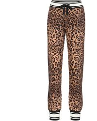 Dolce & Gabbana Jogginghose mit Leoparden-Print - Braun