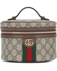 Gucci Ophidia GG Supreme Cosmetics Case - Natural