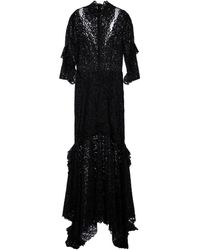 Costarellos Vestido de fiesta con encaje floral - Negro