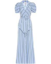 Rosie Assoulin Vestido largo en mezcla de algodón - Azul