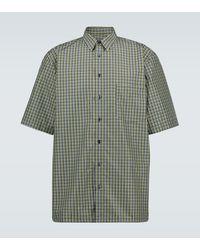 Raf Simons Camisa de manga corta de cuadros - Verde