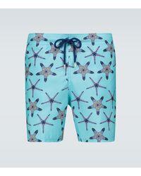 Vilebrequin 'Mahina' Badeshorts mit Seesterne-Print - Blau