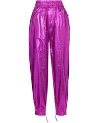 Isabel Marant Hose Galoni aus Metallic-Baumwolle - Pink