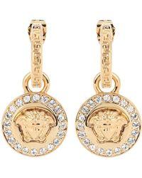 Versace Greca And Medusa Earrings - Metallic