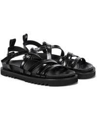 Simone Rocha Leather Sandals - Black