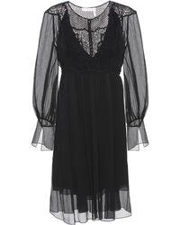 Chloé - Lace-panelled Silk Dress - Lyst