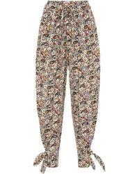 Étoile Isabel Marant Pantalon carotte Rexty imprimé en coton - Multicolore