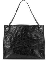 Saint Laurent Niki Leather Tote - Black