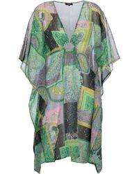 Versace Kaftan Barocco Patchwork aus Seide - Grün