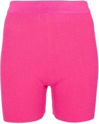 Jacquemus Le Short Arancia Knit Biker Shorts - Pink