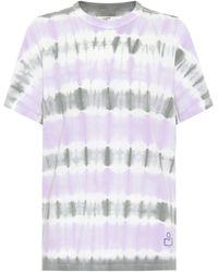 Étoile Isabel Marant T-Shirt Dena aus Baumwolle - Lila