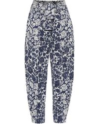 Ulla Johnson Storm Floral High-rise Carrot Jeans - Blue