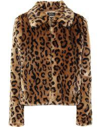 A.P.C. Margot Leopard-print Faux Fur Jacket - Multicolor