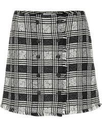 Thom Browne - Prince Of Wales Tweed Mini Skirt - Lyst