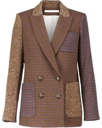 Veronica Beard Blazer Dickey en tweed de laine mélangée - Multicolore