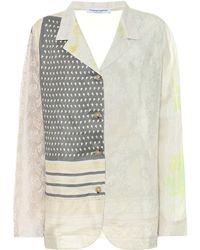 Marine Serre Top de pijama de seda estampado - Multicolor
