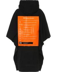 MM6 by Maison Martin Margiela Printed Cotton Hoodie Dress - Black