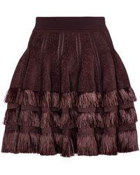 Alaïa Mini-jupe - Multicolore