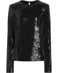 Galvan London Gilded Clara Sequined Top - Black