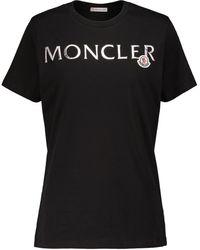 Moncler Logo Cotton Jersey T-shirt - Black
