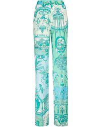 Etro Hose mit weitem Bein - Grün