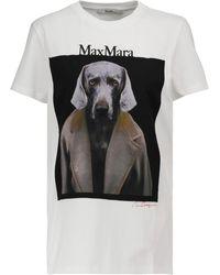 Max Mara Dogstar Cotton T-shirt - White