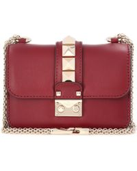 Valentino - Garavani Lock Mini Leather Crossbody Bag - Lyst