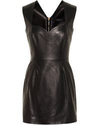 Versace Minikleid aus Leder - Schwarz
