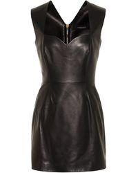 Versace Leather Minidress - Black