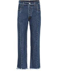 Vetements Raw-hem Straight Jeans - Blue