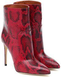 Paris Texas Ankle Boots aus Leder - Rot